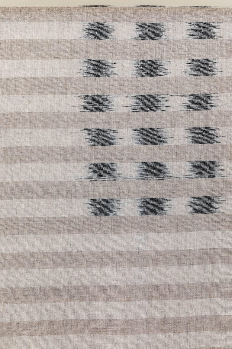 Ikat Woven Cashmere Throw For Sale 1