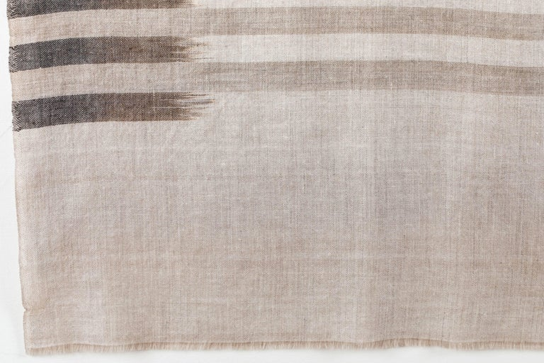 Ikat Woven Cashmere Throw For Sale 2