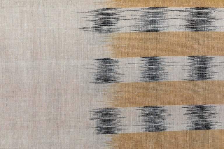 Contemporary Ikat Woven Cashmere Throw For Sale