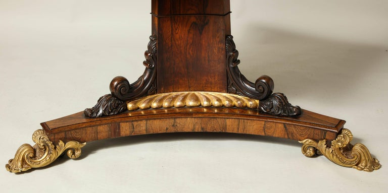 Regency Gilt Bronze-Mounted Rosewood Octagonal Centre Table In Excellent Condition For Sale In New York, NY