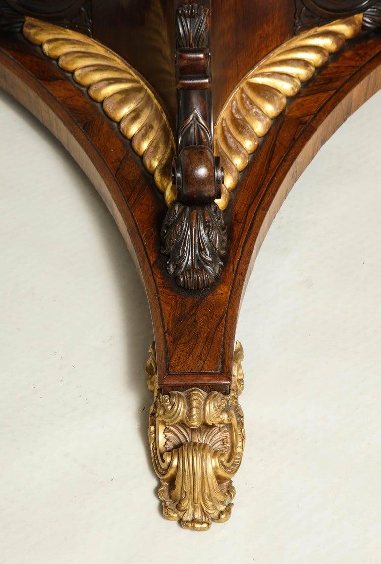 Regency Gilt Bronze-Mounted Rosewood Octagonal Centre Table For Sale 1