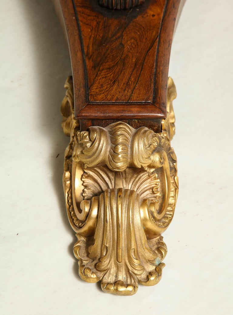 Regency Gilt Bronze-Mounted Rosewood Octagonal Centre Table For Sale 2
