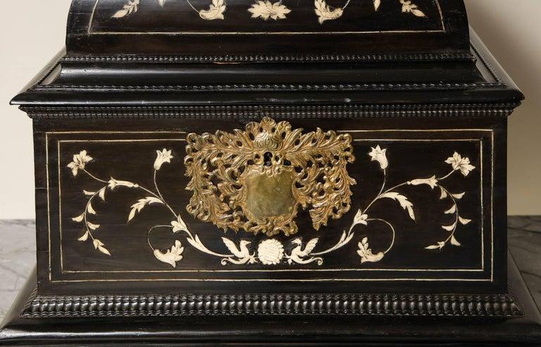 Belgian 17th Century Flemish Ebony and Bone Jewel Box
