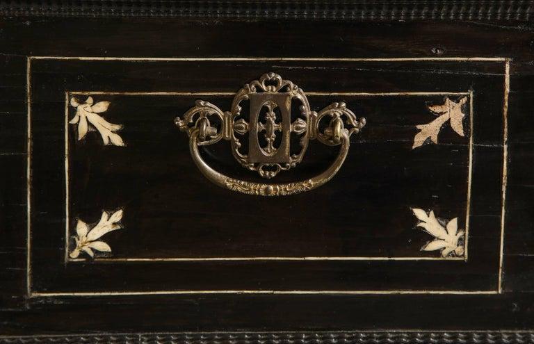 Late 17th Century 17th Century Flemish Ebony and Bone Jewel Box