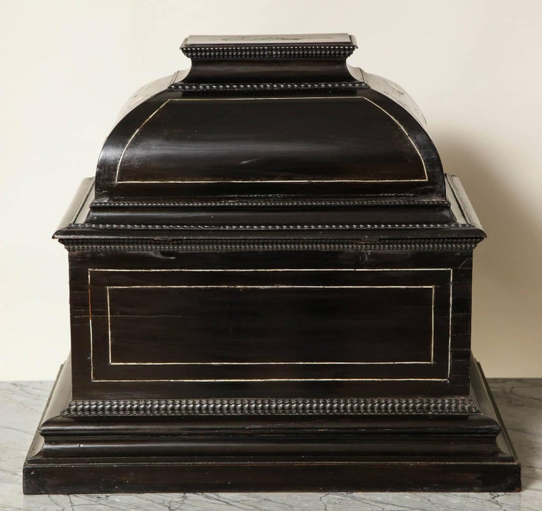 17th Century Flemish Ebony and Bone Jewel Box 4