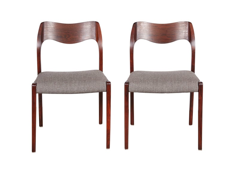Niels Moller No 71 Rosewood Dining Chairs, Set of Six 2