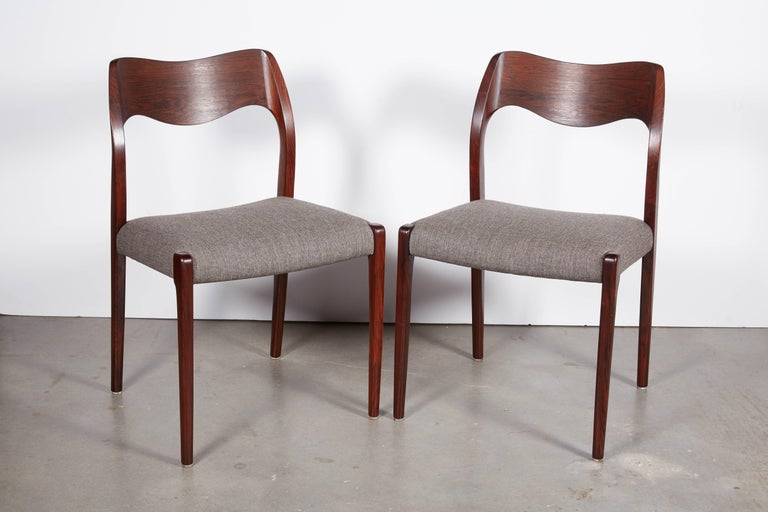 Niels Moller No 71 Rosewood Dining Chairs, Set of Six 3