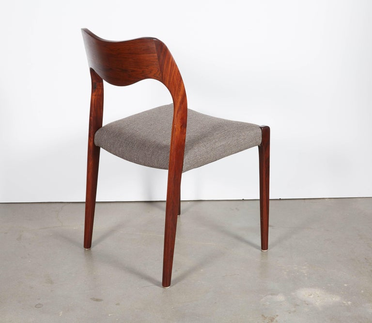 Niels Moller No 71 Rosewood Dining Chairs, Set of Six 8