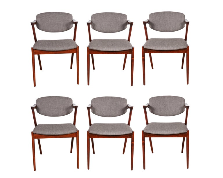 Kai Kristiansen No. 42 Rosewood Dining Chairs, Set of Eight 2