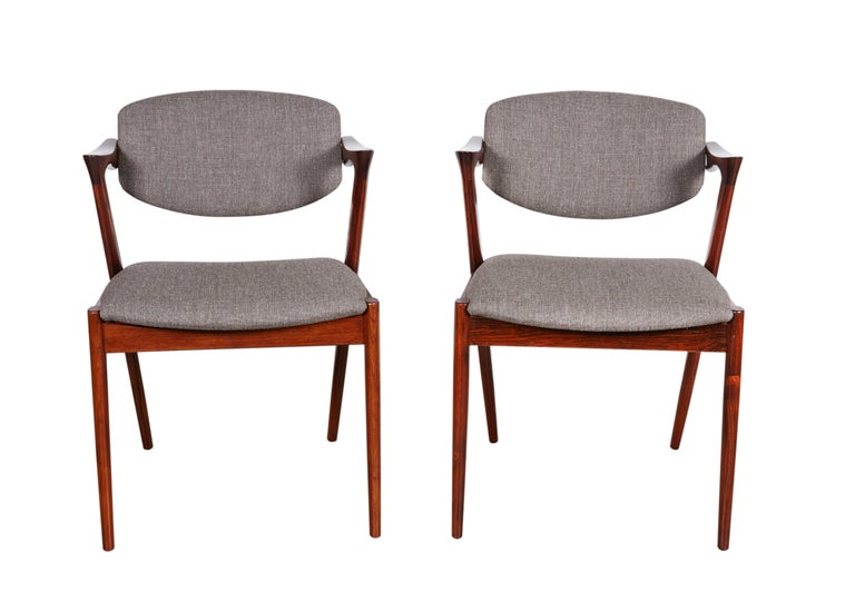 Kai Kristiansen No. 42 Rosewood Dining Chairs, Set of Eight 3