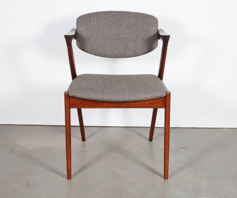 Kai Kristiansen No. 42 Rosewood Dining Chairs, Set of Eight 5