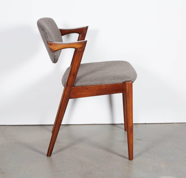 Kai Kristiansen No. 42 Rosewood Dining Chairs, Set of Eight 7