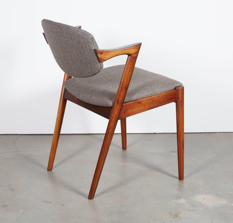 Kai Kristiansen No. 42 Rosewood Dining Chairs, Set of Eight 8