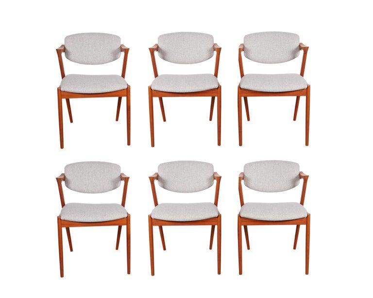 No. 42 Kai Kristiansen Teak Dining Chairs, Set of FOUR  2