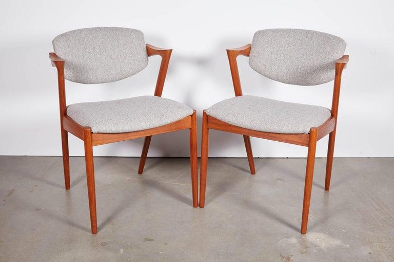 No. 42 Kai Kristiansen Teak Dining Chairs, Set of FOUR  3
