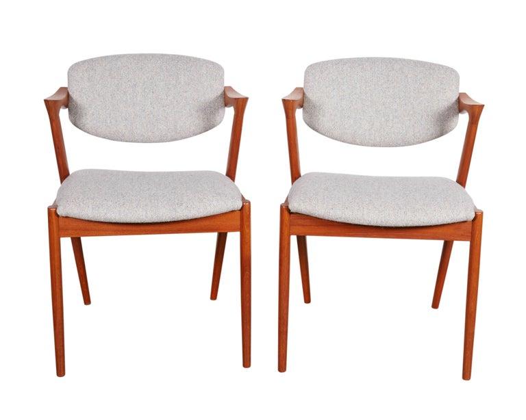 No. 42 Kai Kristiansen Teak Dining Chairs, Set of FOUR  5