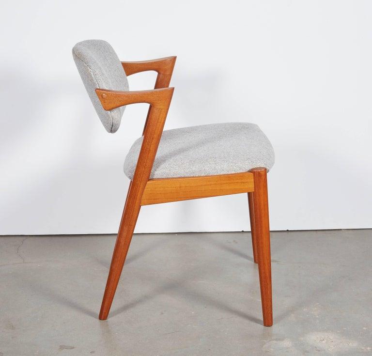 No. 42 Kai Kristiansen Teak Dining Chairs, Set of FOUR  8