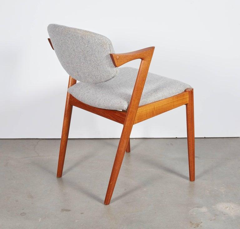 No. 42 Kai Kristiansen Teak Dining Chairs, Set of FOUR  9