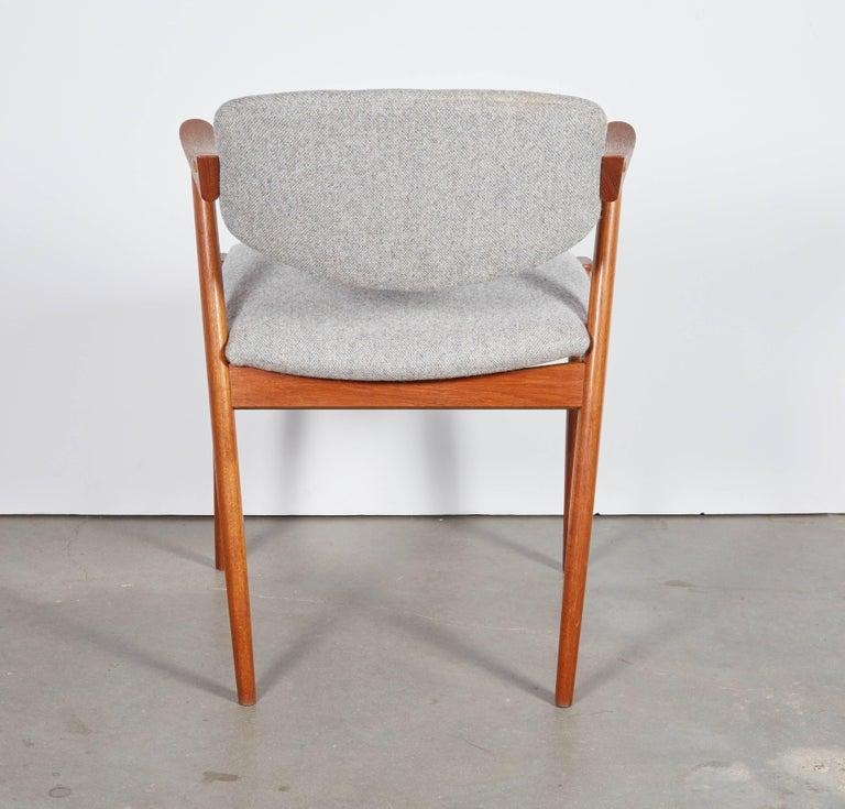 No. 42 Kai Kristiansen Teak Dining Chairs, Set of FOUR  10