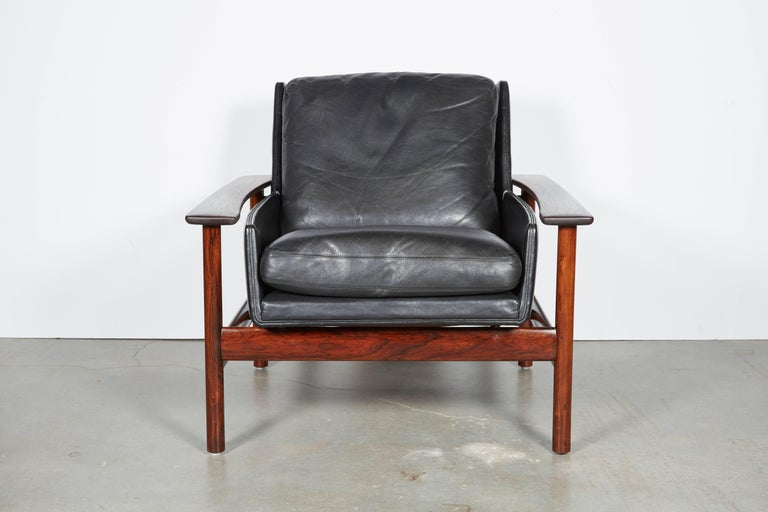 Sven Ivar Dysthe 7001 Leather Lounge Chairs, Pair 6