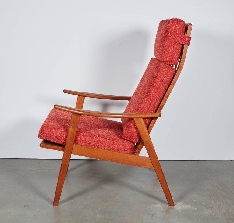 Danish Modern High Back Armchair  3