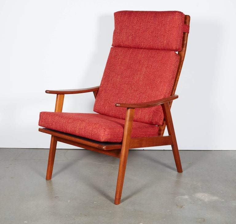 Danish Modern High Back Armchair  4
