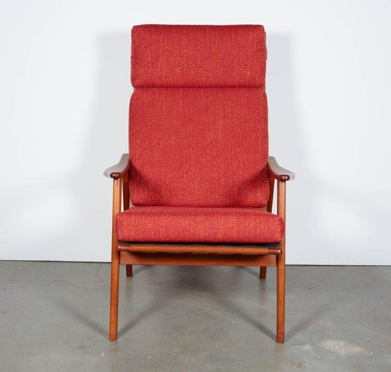 Danish Modern High Back Armchair  5