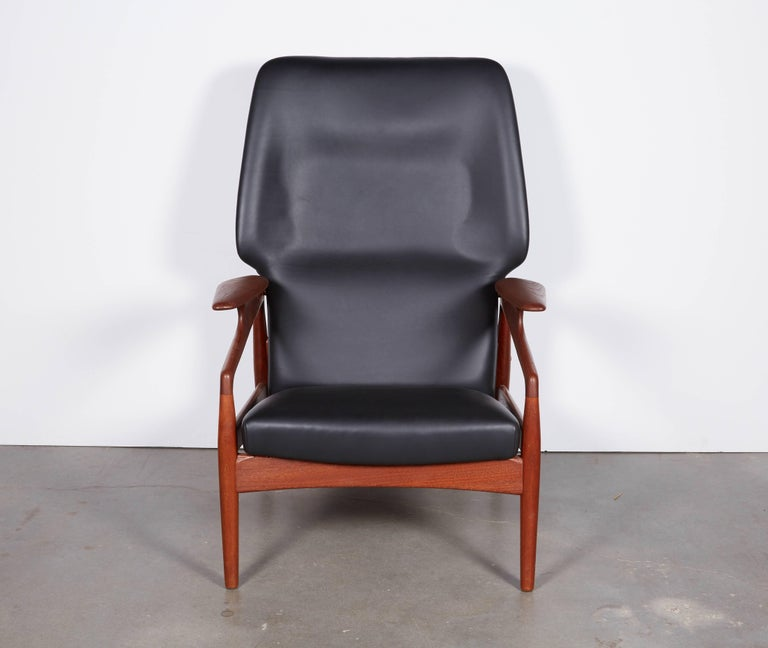 Oiled Kurt Ostervig Leather Recliner For Sale