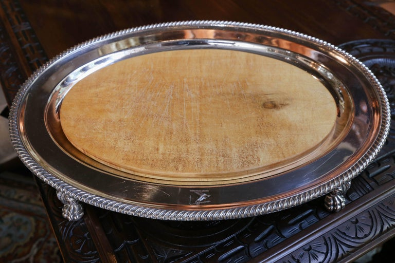 19th Century Sheffield Meat Dome and Tray by John Waterhouse, Hatfield Co, circa 1836 For Sale