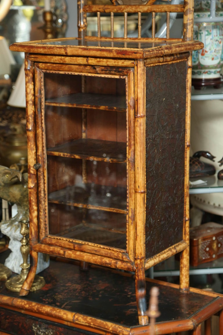 19th Century English Japonisme Bamboo Side Cabinet In Good Condition For Sale In West Palm Beach, FL