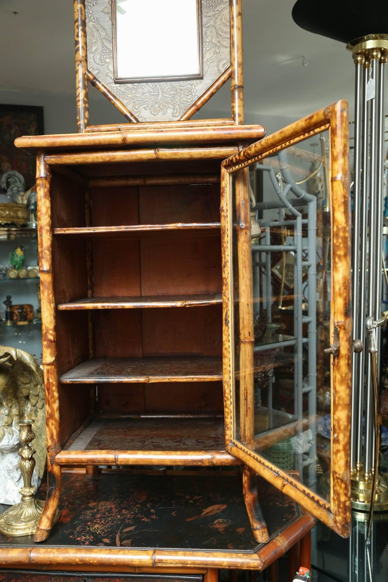 19th Century English Japonisme Bamboo Side Cabinet For Sale 1