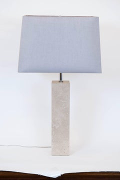Pair of Vintage Travertine  Table Lamps