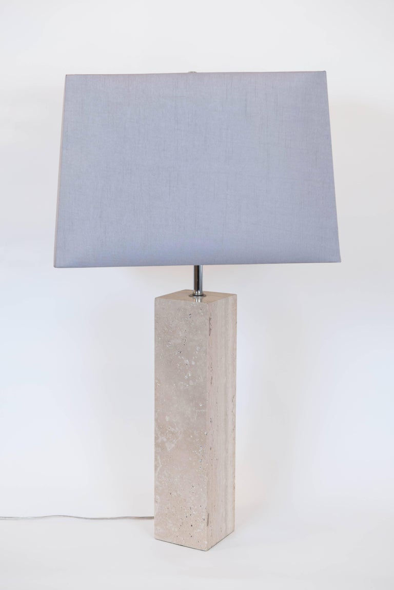 Pair of Vintage Travertine Table Lamps 2
