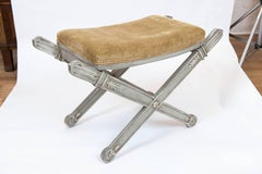 Painted Vintage Italian Neoclassical Style Bench