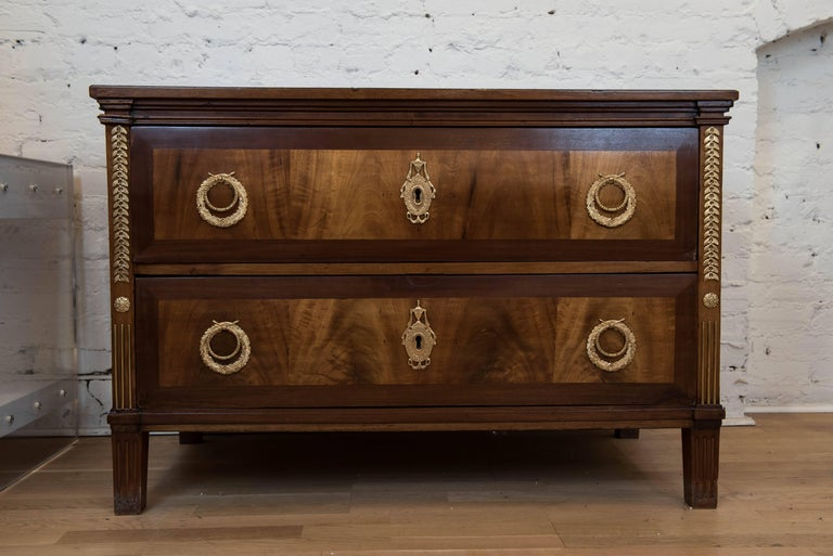 Louis XVI 19th Century Continental Two-Drawer Commode For Sale
