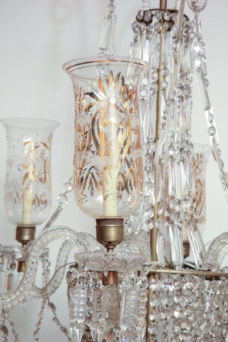 Georgian Late Regency Crystal Chandelier For Sale