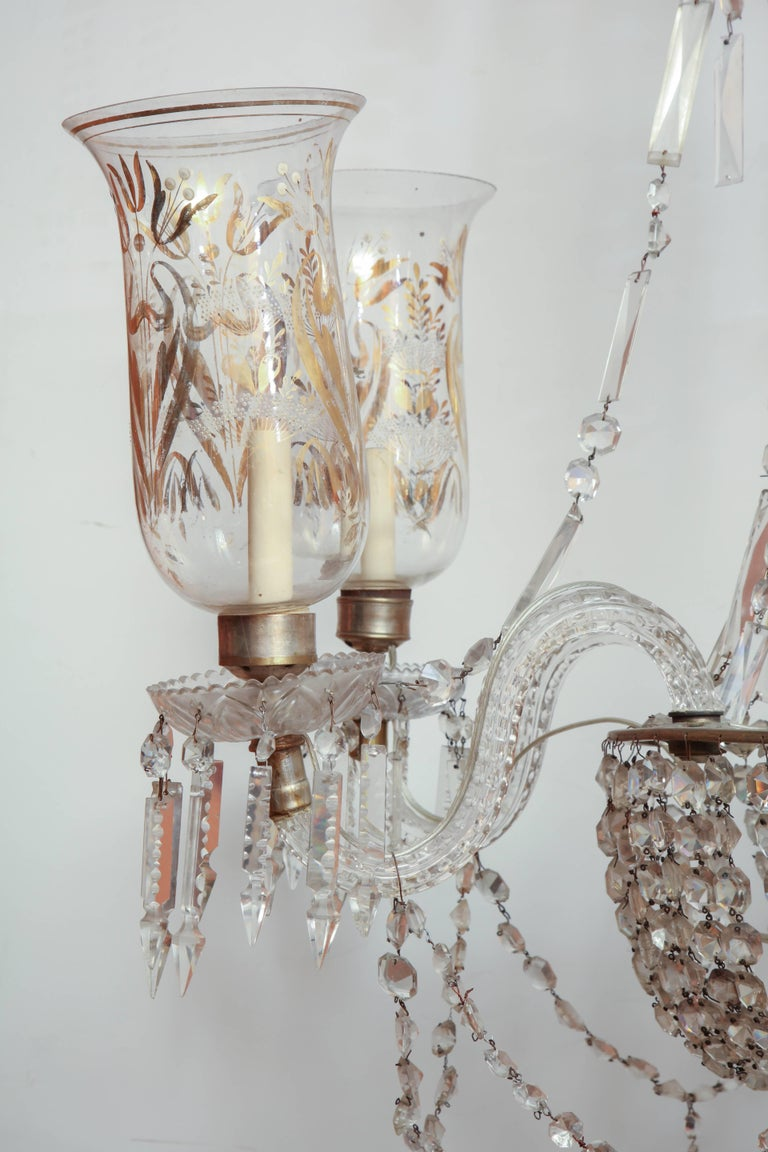 English Late Regency Crystal Chandelier For Sale