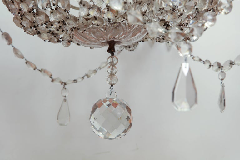 19th Century Late Regency Crystal Chandelier For Sale