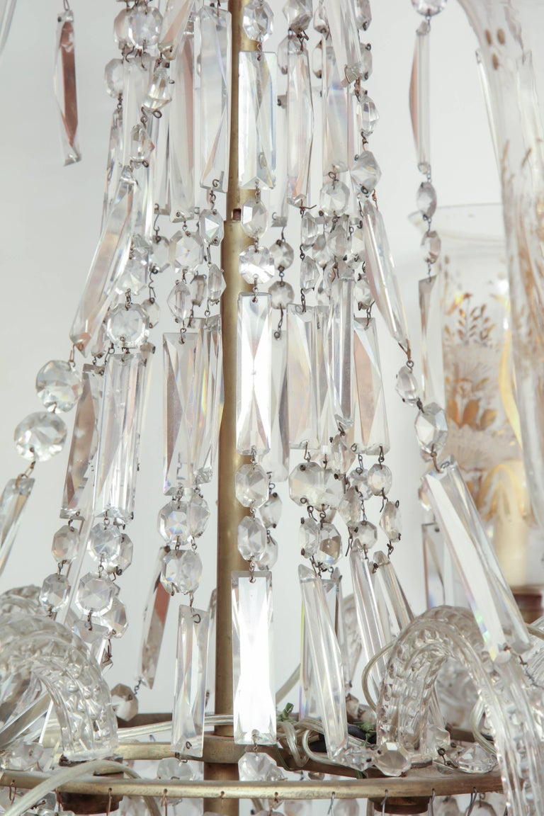Late Regency Crystal Chandelier For Sale 4