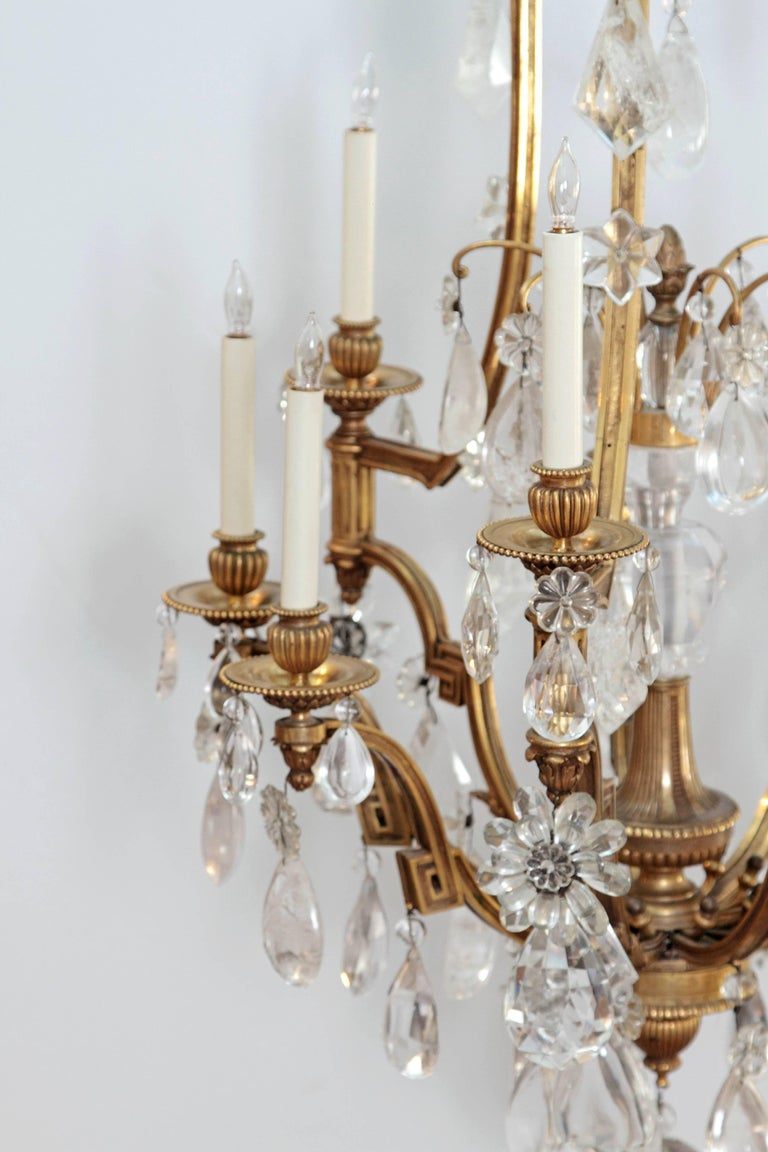 Louis XV Style Chandelier with Rock Crystals from Nesle Inc. New York In Good Condition For Sale In Dallas, TX