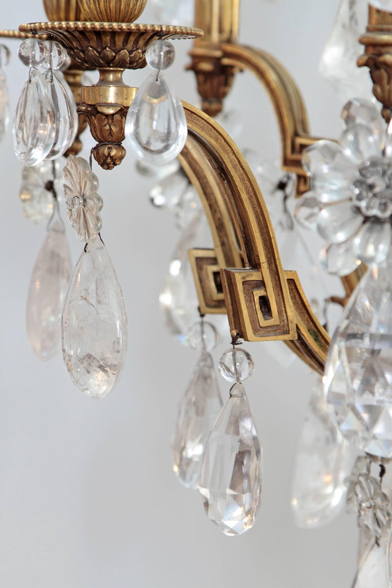 Louis XV Style Chandelier with Rock Crystals from Nesle Inc. New York For Sale 1