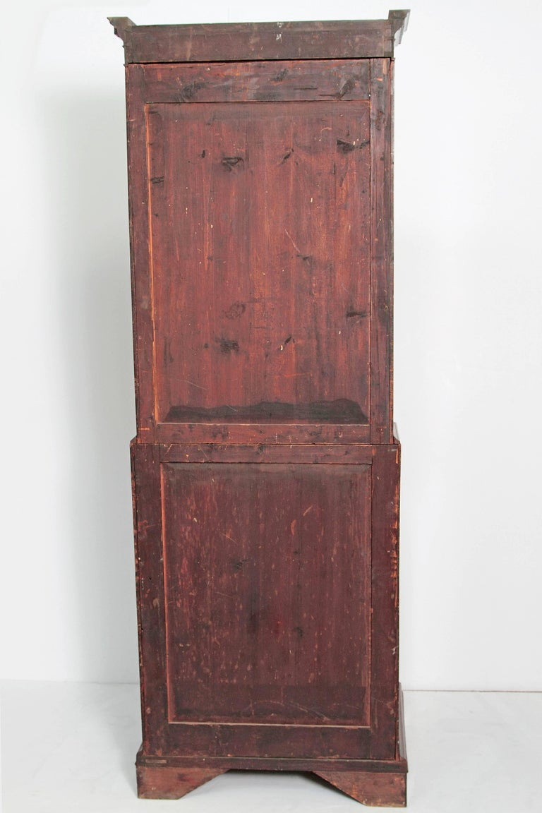 Period George III Secretary Bookcase of Mahogany For Sale 2