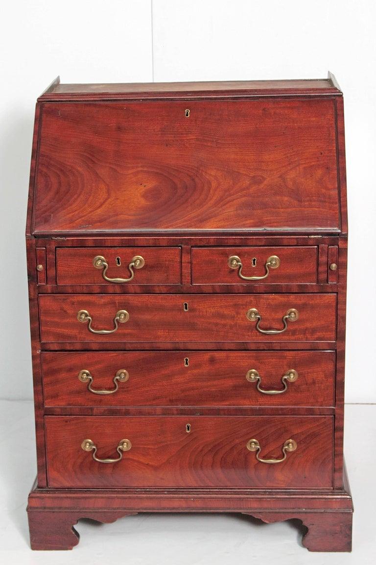 Period George III Secretary Bookcase of Mahogany For Sale 3