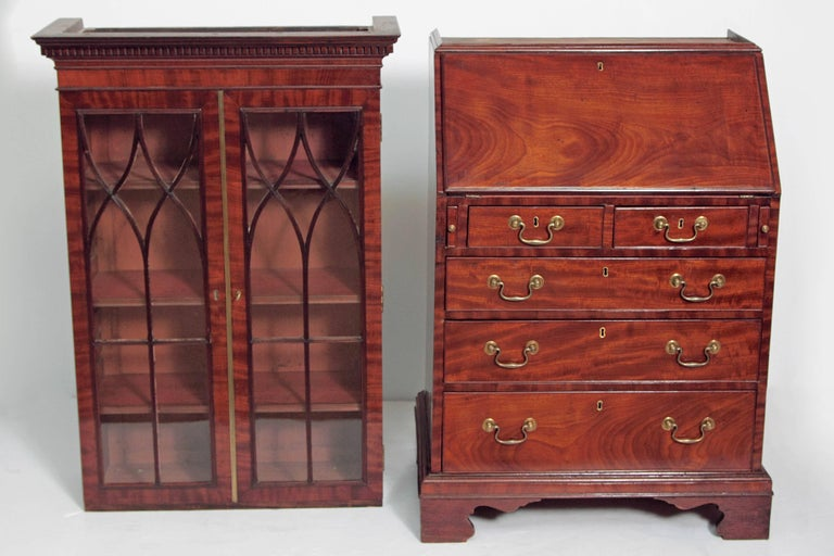 Period George III Secretary Bookcase of Mahogany For Sale 4