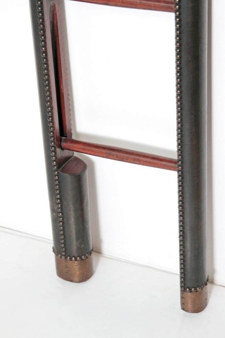 20th Century  Edwardian Period Mahogany Folding Ladder For Sale