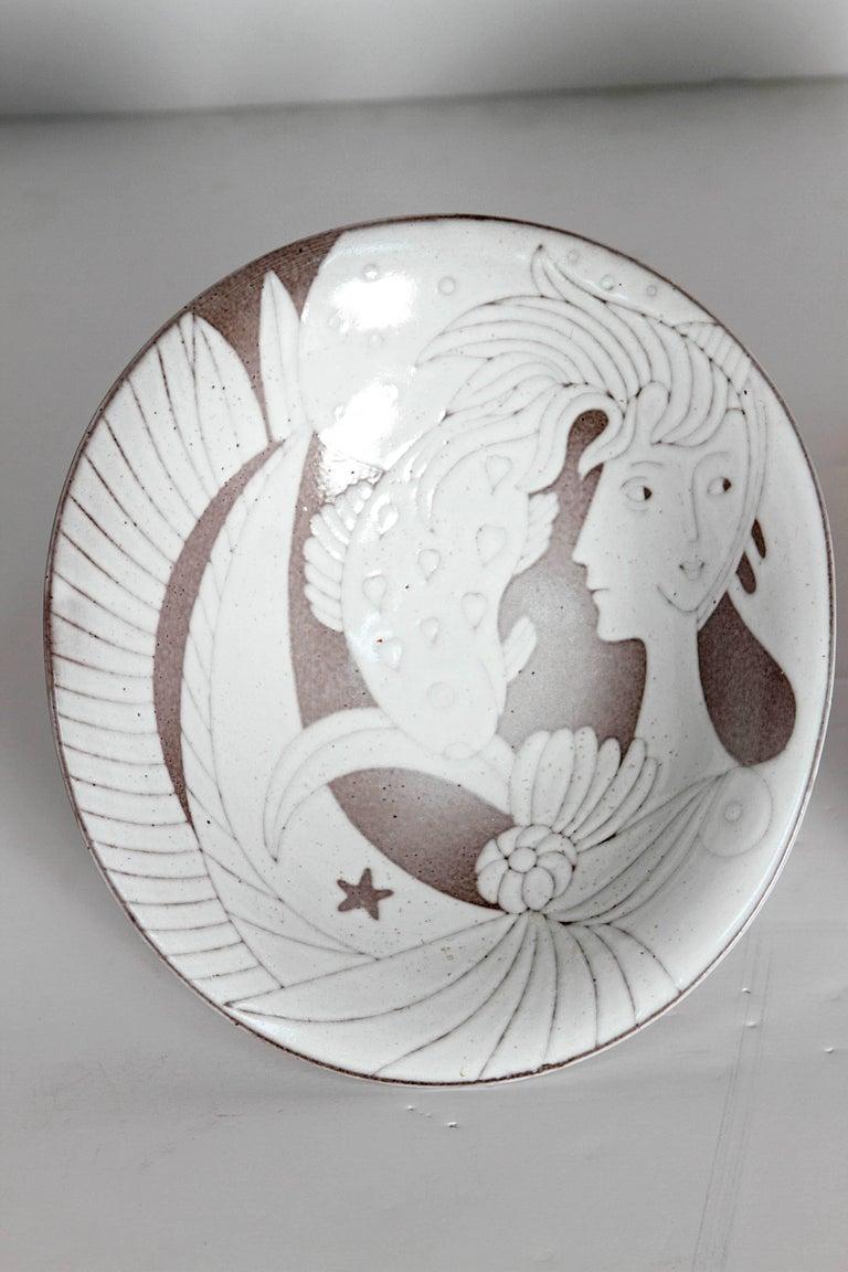 Glazed Mid-Century Bowl by Upsala-Ekeby For Sale