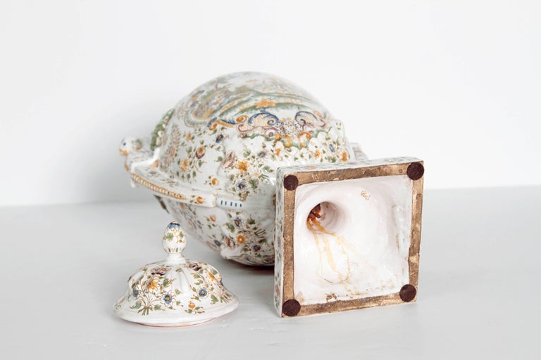 18th Century French Faience Lidded Urn For Sale 3