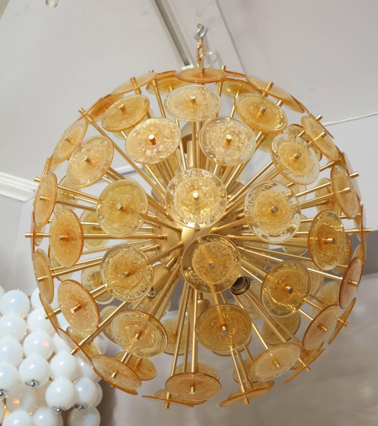 Golden murano mini disc sputnik chandelier for sale at 1stdibs golden murano mini disc sputnik chandelier second chandelier available aloadofball Gallery