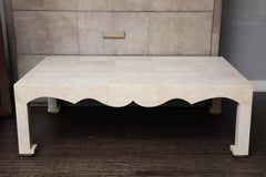 Jean Michel Frank Style Cocktail Table in Genuine Shagreen