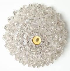 Vintage Barovier Spiked Glass Flush Mount Ceiling Light